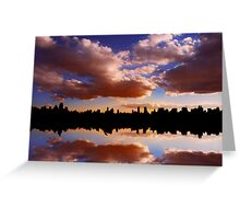 Morning at the Reservoir, New York City, USA Greeting Card