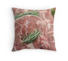 Raw Chops Throw Pillow