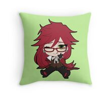 Black Butler: Grell Sutcliff chibi Throw Pillow