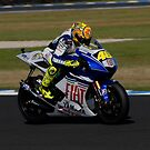 Valentino Rossi on his Yamaha (YZR-M1) by phanoongy