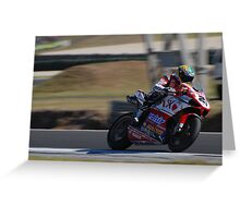 Troy Bayliss on his Ducati (1098) Greeting Card