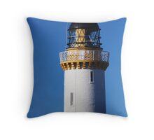 Tarbat Ness Lighthouse Top Throw Pillow