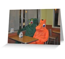 Gumby and Pokey Greeting Card
