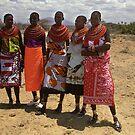 Girls of the Samburu Tribe, Kenya by Bev Pascoe