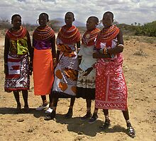 Girls of the Samburu Tribe, Kenya by Bev Pascoe