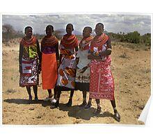 Girls of the Samburu Tribe, Kenya Poster