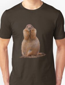 Prairie Dog with Funny Expression Unisex T-Shirt
