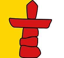 Flag of Nunavut  by abbeyz71