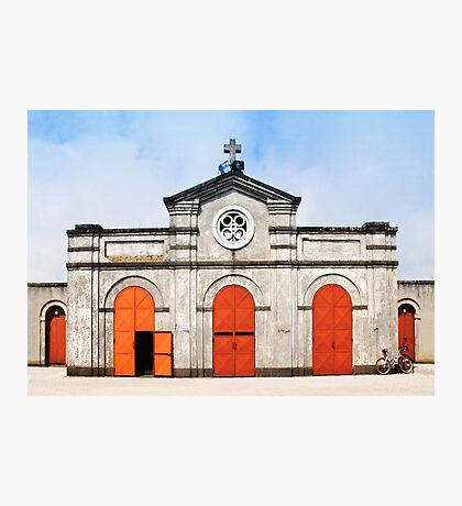 Church and bicycle Photographic Print