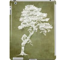 The Bodhi Tree of Awareness (White Version) iPad Case/Skin