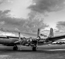 Vintage 1956 DC-7 by njordphoto