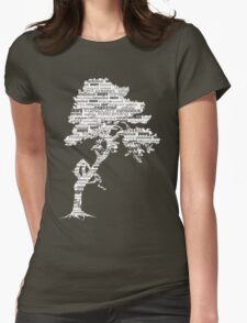 The Bodhi Tree of Awareness (White Version) Womens Fitted T-Shirt