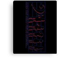 Euph Scales in Neon Canvas Print