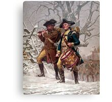 Revolutionary War Soldiers Marching  Canvas Print