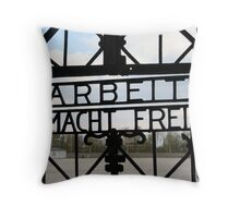 Dachau Gate Throw Pillow