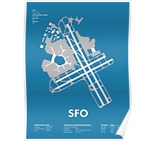 SFO - San Francisco International Airport Poster