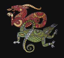 Dragons Tee by Lynnette Shelley