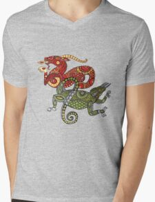 Dragons Tee Mens V-Neck T-Shirt