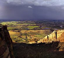 Grand Valley from Colorado National Monument by Fletcher Hill