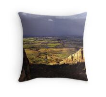 Grand Valley from Colorado National Monument Throw Pillow