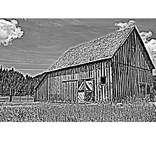 Black and White Barn Photographic Print