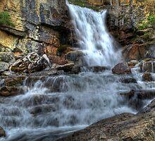 Tangle Falls hwy 93 Jasper National Park Alberta by PFrogg