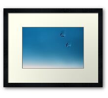 Fading blue water droplets Framed Print