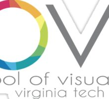 School of Visual Arts Virginia Tech Sticker
