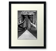 Brooklyn Bridge I, New York City, USA Framed Print
