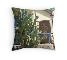 Cactus, Wrought Iron, and Wrought-Iron Cactus Throw Pillow
