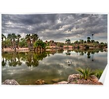 Lagoon Reflected Poster