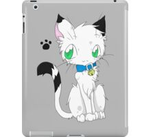 Buchi the white fur Cat iPad Case/Skin