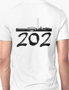 Washington D.C. - 202 (Black Logo) T-Shirt