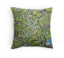 Dizzy Aspens by Melinda Cummings  Throw Pillow