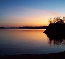 The Lake at Dusk by Virginia Shutters