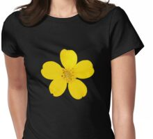 Green-and-Gold Chrysogonum Virginianum Watercolor Womens Fitted T-Shirt