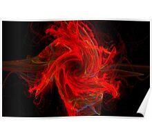 Swirling Dancing Flames Poster