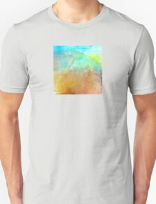 Beautiful Decorative Abstract in Blues and Earth Tones Unisex T-Shirt