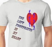 Footprints in my heart Unisex T-Shirt