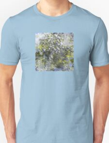 Blue and Yellow Abstract Design Unisex T-Shirt