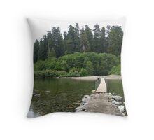 River Foot Bridge Throw Pillow