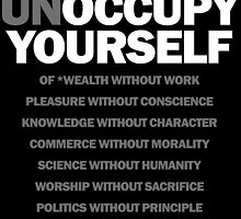 unoccupy yourself (black) by titus toledo