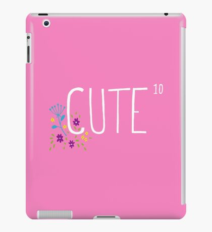 Cute to the power of 10 iPad Case/Skin