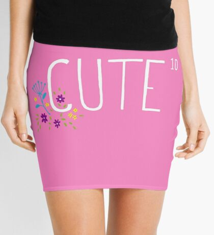 Cute to the power of 10 Mini Skirt