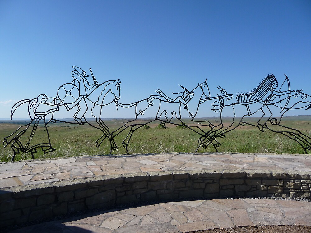 Indian Memorial at Little Big Horn Battlefield by Braedene