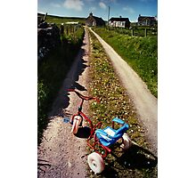 Abandoned Tricycle Photographic Print