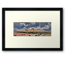 Sombrero Rock Framed Print