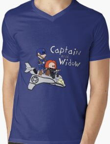 Captain and Widow Mens V-Neck T-Shirt