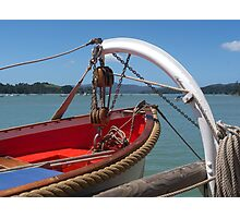 Lifeboat, swung out and ready to go...........! Photographic Print