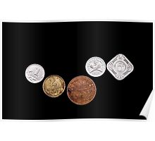 Several old coins Poster